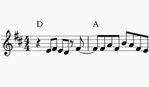 AKB48楽譜の例