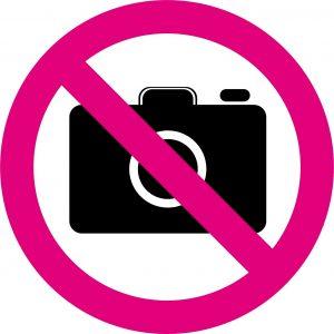 撮影禁止のマーク
