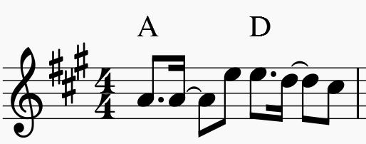 smapの楽譜の例