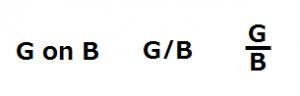 G on B, G/B